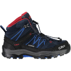 CMP Campagnolo Rigel WP Mid-Cut Trekkingschuhe Kinder black blue-royal